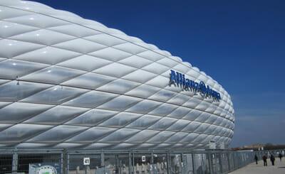 Allianz Arena Schriftzug
