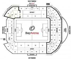 BayArena Stadionplan Bayer 04 Leverkusen