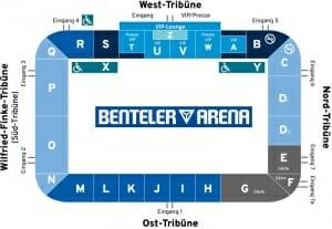 Benteler Arena Stadionplan SC Paderborn 07