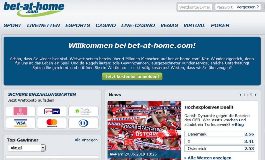 Bet At Home Login