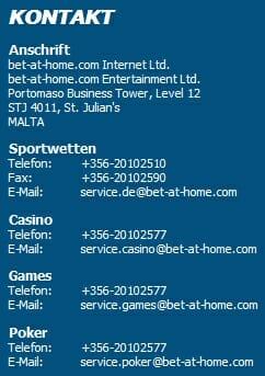 Bet-at-Home Kontakt