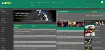 bet365 Sportwetten Vorschau