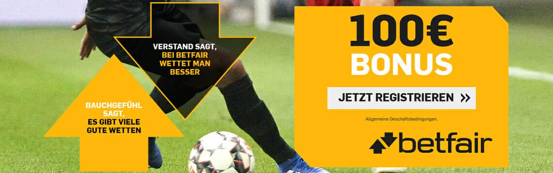 Betfair Sportwetten Bonus Banner