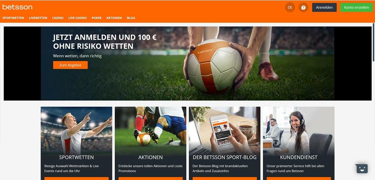 betsson Sportwetten Vorschau Start