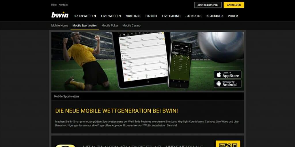 bwin mobile Sportwetten