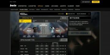 bwin virtuelle Sportwetten