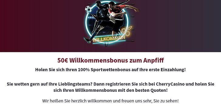 Cherry Sportwetten Bonus