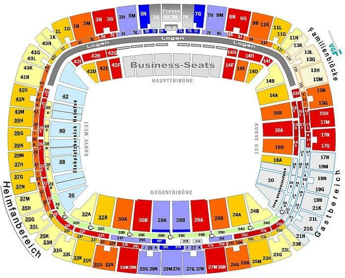 Commerzbank Arena Stadionplan Eintracht Frankfurt