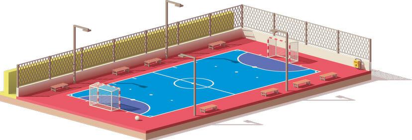 Futsal Platz Banner