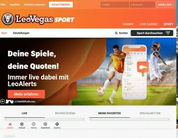Leo Vegas Sportwetten Vorschau
