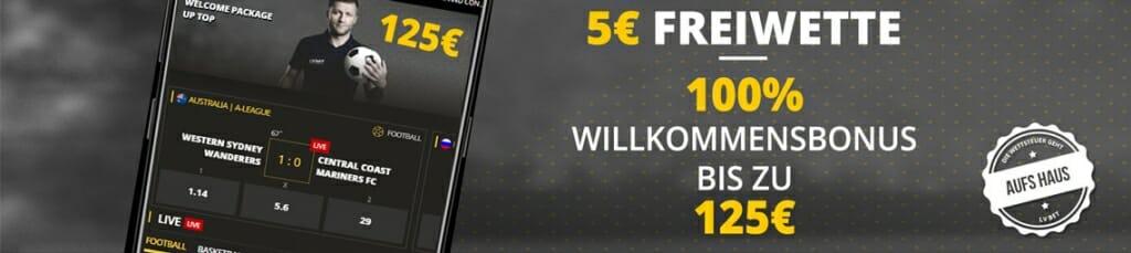 LVBet mobile Bonus