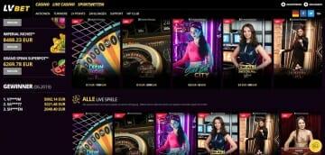 LvBet Sportwetten Live Casino
