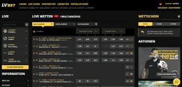 LvBet Sportwetten Live Wetten