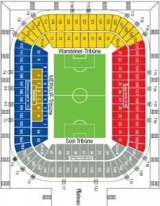 Merkur Spiel Arena Stadionplan Fortuna Duesseldorf