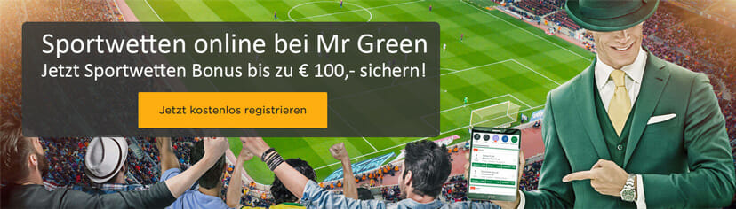 Mr Green Sports App Bonus