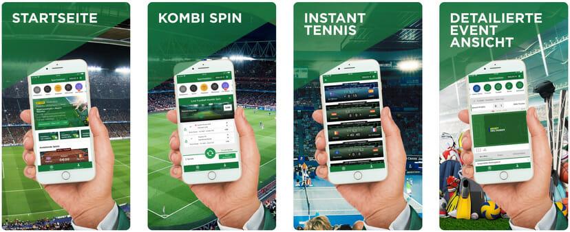 Mr Green Sports App Vorschau