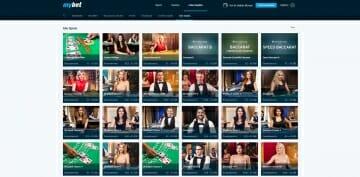 MyBet Sportwetten Vorschau Live Casino