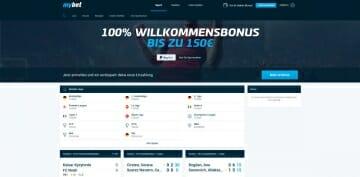 MyBet Sportwetten Vorschau Startseite