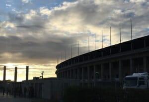 Olympiastadion Seitenansicht
