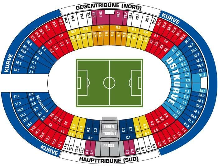 Olympiastadion Stadionplan Herta BSC Berlin