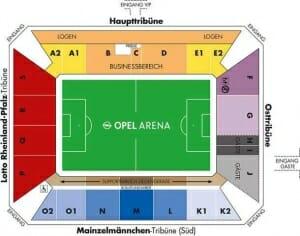 Opel Arena Stadionplan FSV Mainz 05