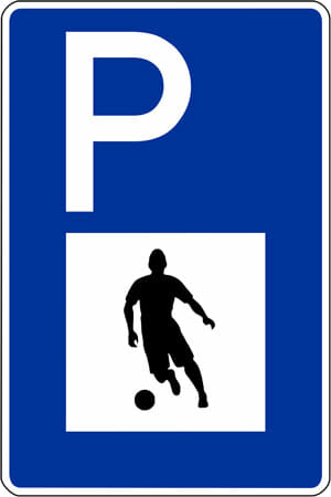 Parkplatz Fussballer