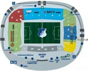 PreZero Arena Stadionplan TSG 1899 Hoffenheim