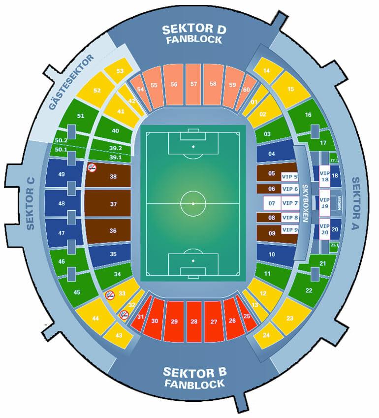 Red Bull Arena Stadionplan