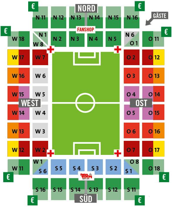 Rhein Energie Stadion Stadionplan 1 FC Koeln