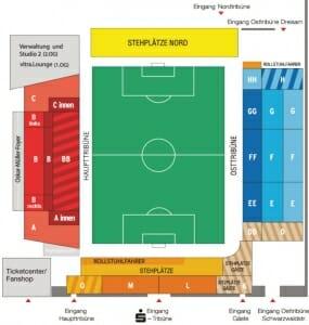 Schwarzwald Stadion Stadionplan SC Freiburg