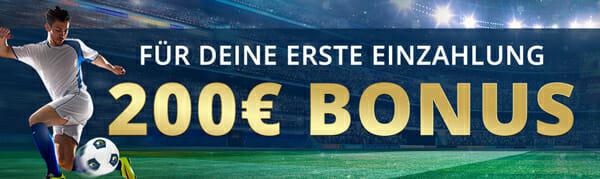 Sportwetten Bonus 200 Euro