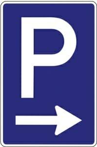 Stadion Guide Parkplatz Schild