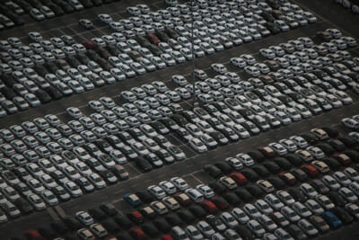 Stadion Guide Parkplatz voll