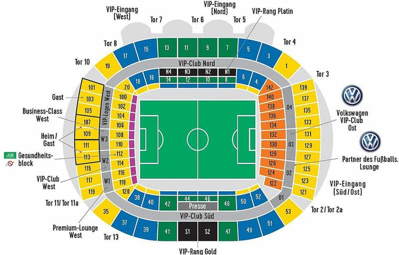 Weserstadion Stadionplan Werder Bremen