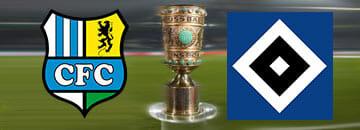 Wett Tipps DFB Pokal: Chemnitzer FC gegen Hamburger SV