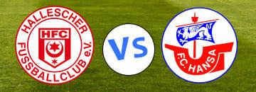 Wett Tipp Hallescher FC gegen Hansa Rostock