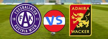 Wett Tipps Austria Wien gegen Admira Wacker