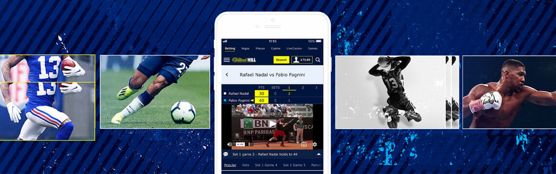 William Hill App Sportwetten Angebot