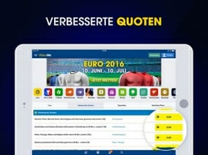 William Hill App verbesserte Quoten