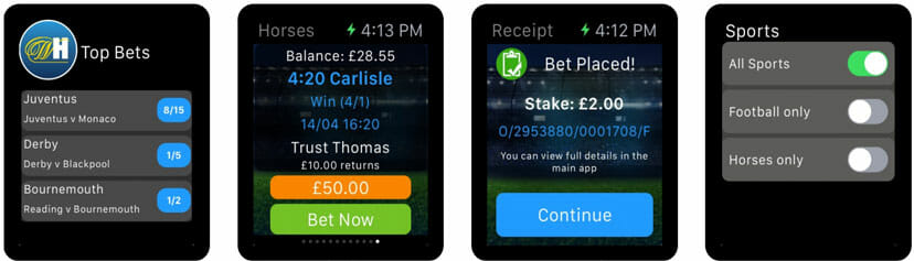 William Hill Sportwetten Apple Watch