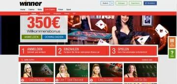 Winner Sportwetten Live Casino Vorschau