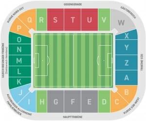 WWK Arena Stadionplan FC Augsburg